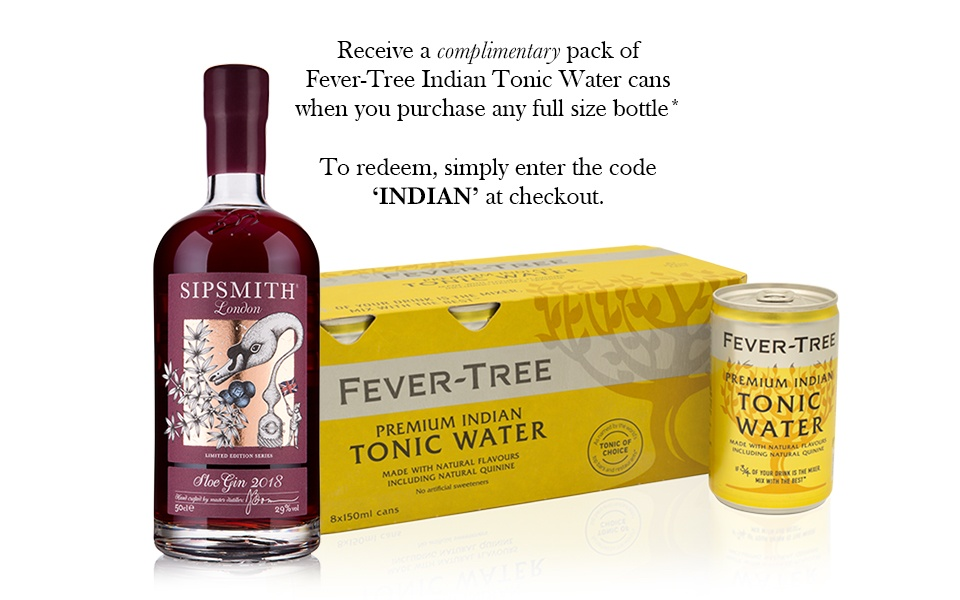 Sipsmith Sloe Gin & Fever-Tree Indian Tonic Water