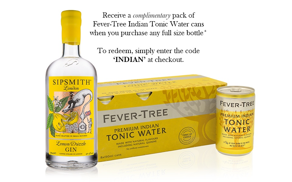Sipsmith Lemon Drizzle & Fever-Tree Indian Tonic