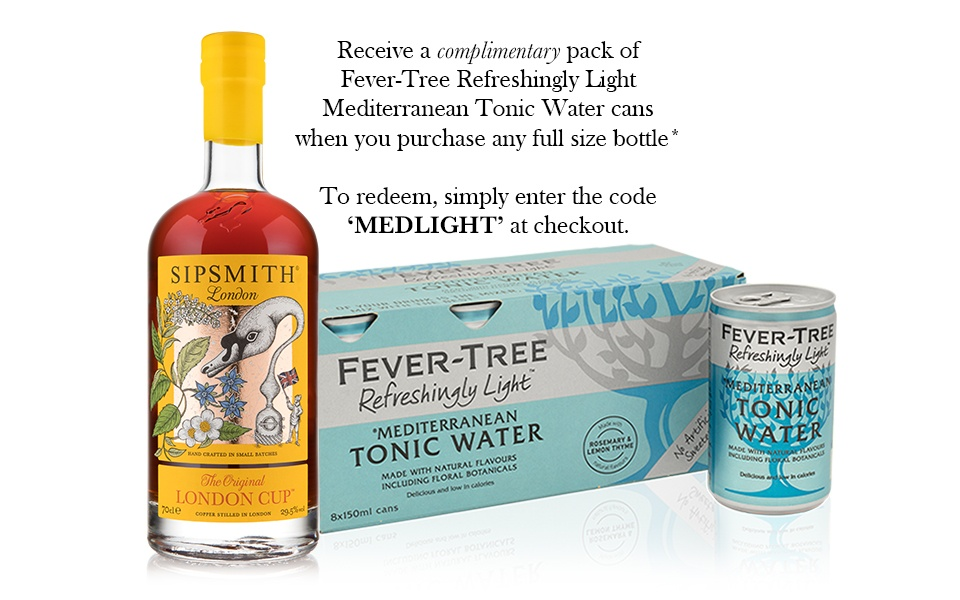 Sipsmith London Cup & Fever-Tree Mediterranean Light Tonic