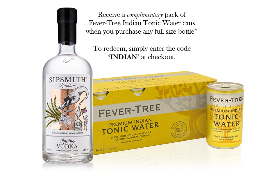 Sipsmith Sipping Vodka & Fever-Tree Indian Tonic Water