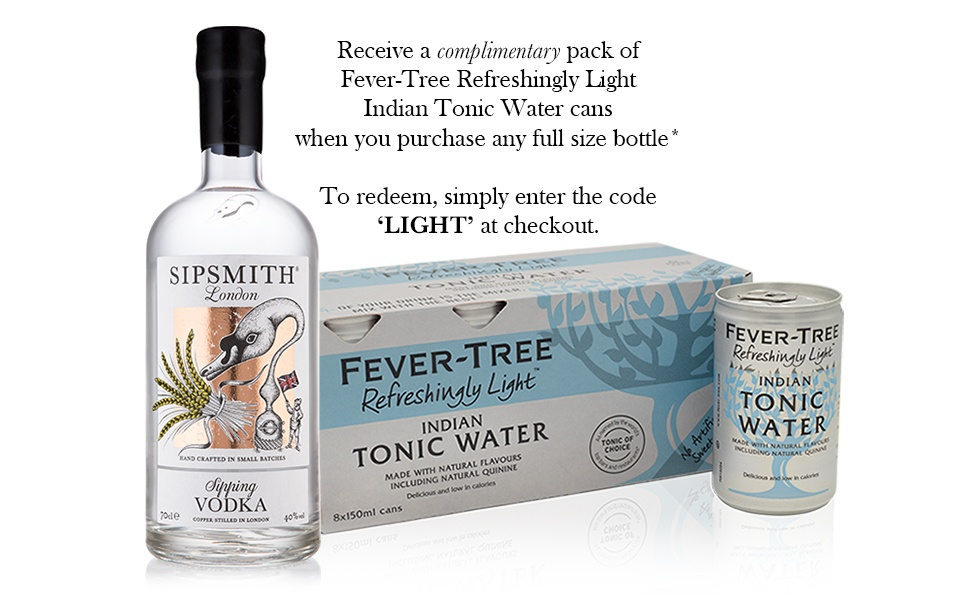 Sipsmith Sipping Vodka & Fever-Tree Indian Light Tonic Water