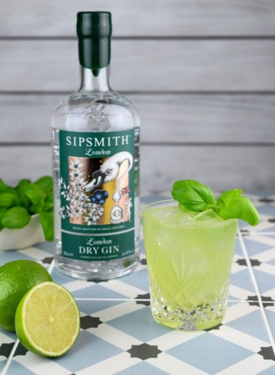 Spring Cocktail Recipes | Gin Basil Smash