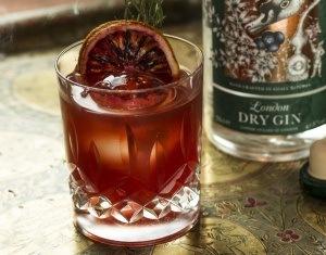 Bitter gin cocktail - Blood Orange Negroni