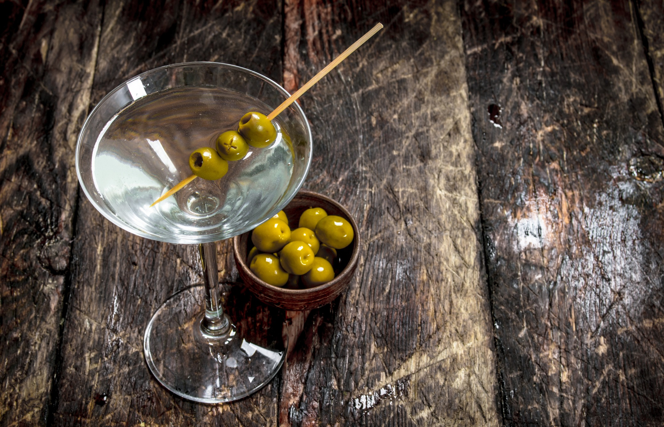 Olives in Martinis | Dirty Martini