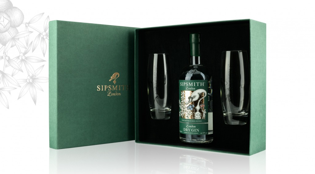 London Dry Gin High Ball Glasses Gift Set