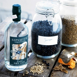 The first bottle of London Dry Gin