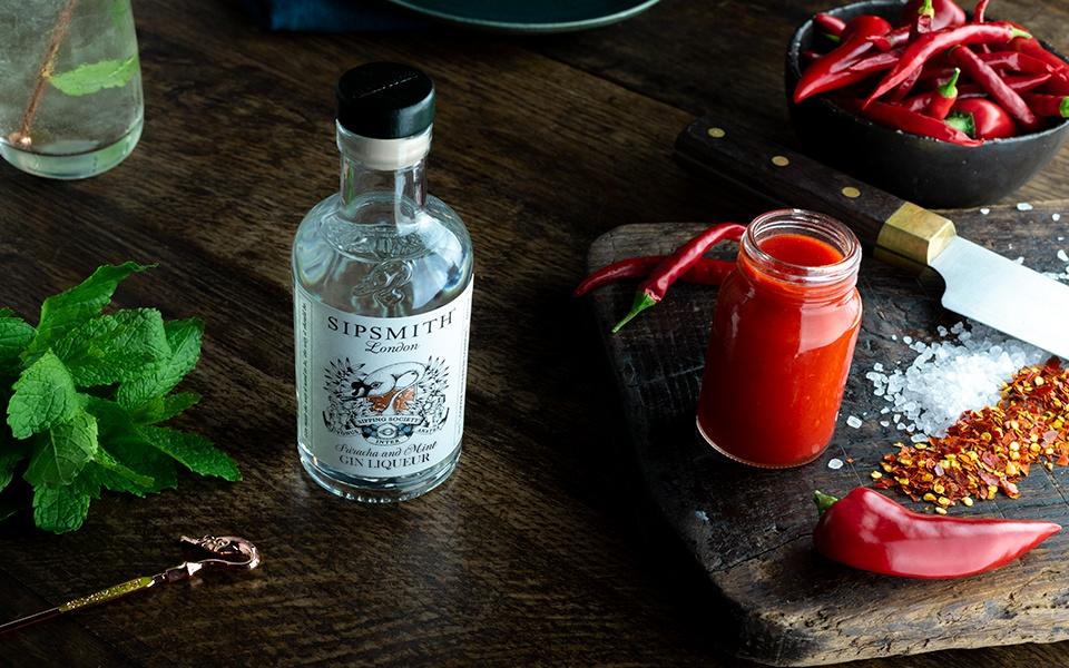 Sriracha and mint