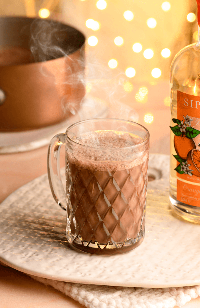 hot chocolate zesty orange