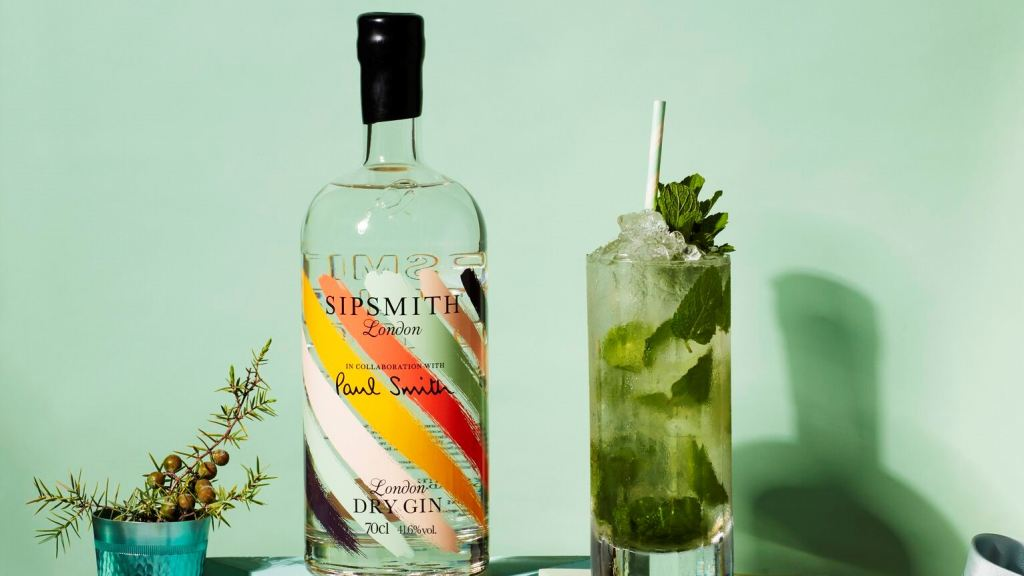 Limited edition Paul Smith x Sipsmith bottle