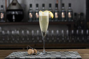 French 75 with champagne