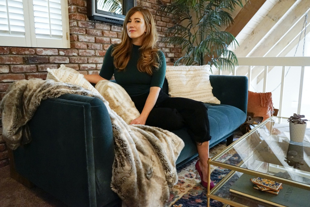 Illustrator Maggie Enterrios at her home