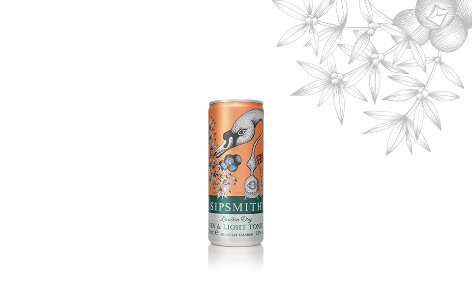 SIPSMITH READY TO DRINK GIN & TONIC LIGHT