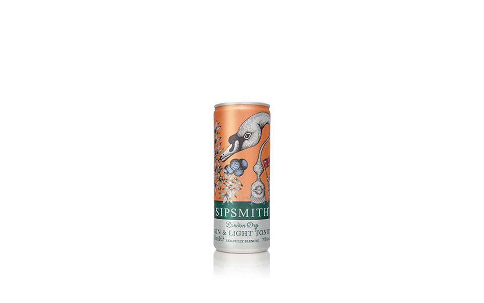 sipsmith gin and tonic cans