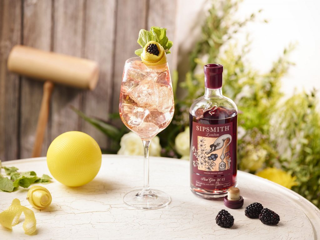 Sloe Gin Spritz. Gin and Food Pairing