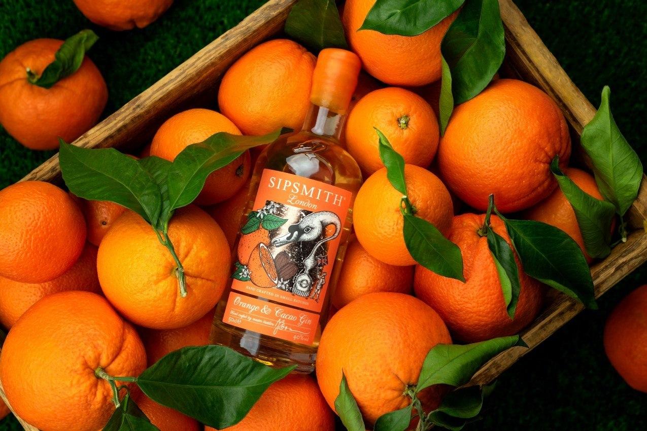 orange cacao gin
