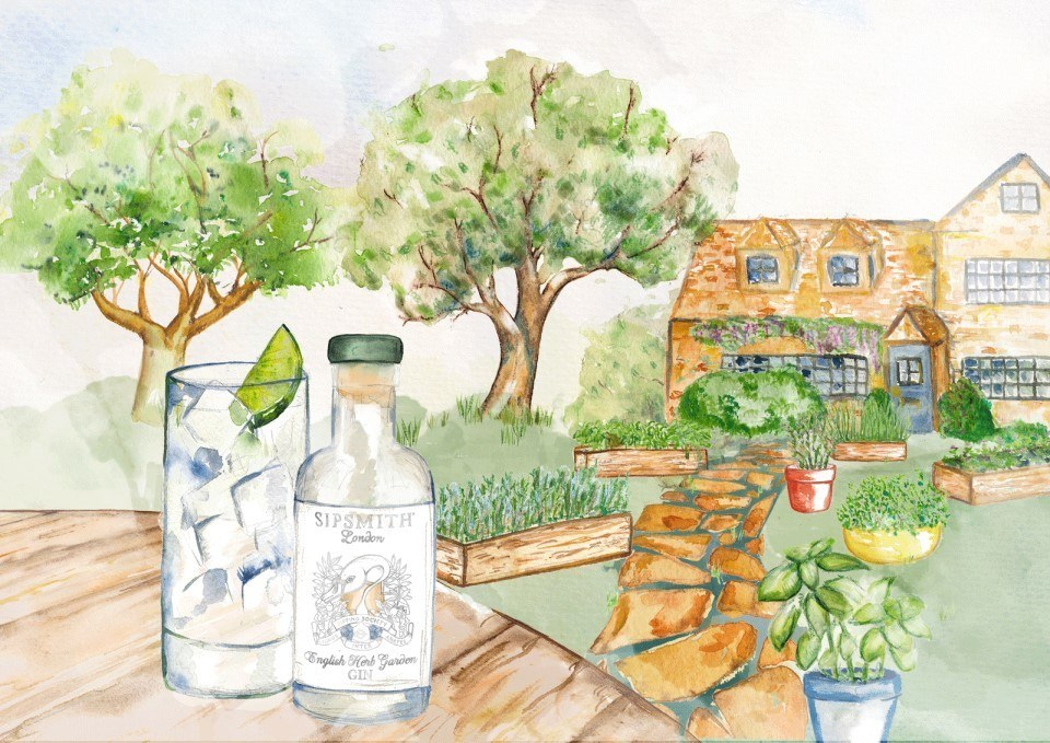english herb garden