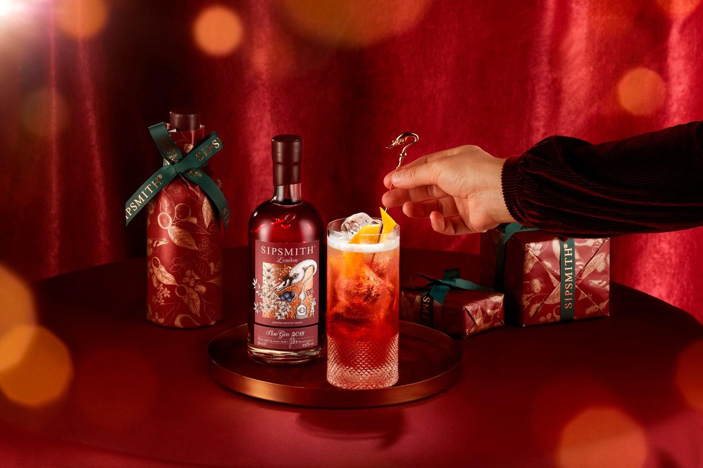 sloe gin g&t landscape christmas
