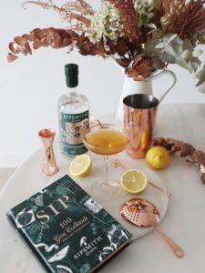 Sipsmith Gin Tea cocktail