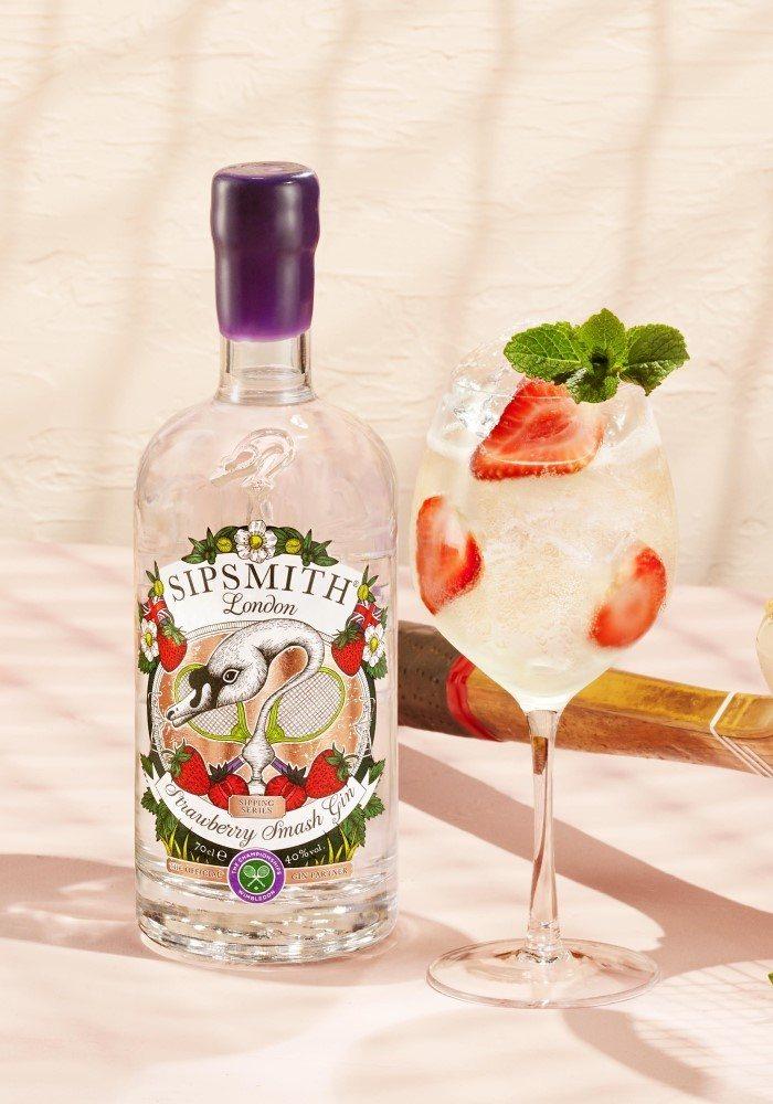 strawberry smash spritz